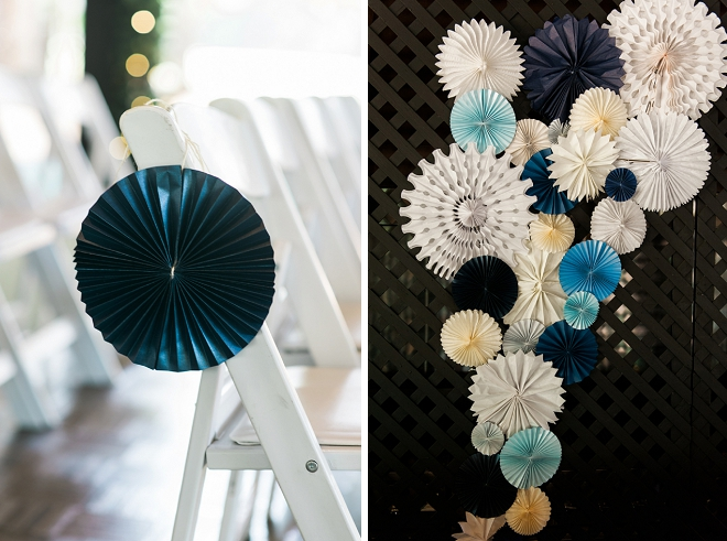 We love these handmade Fourth of July pinwheels DIY'd by the Bride!