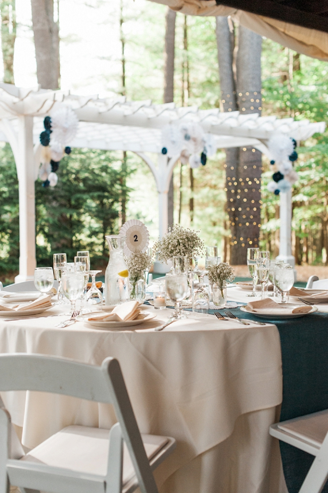We're in LOVE with this intimate reception at their table decor!