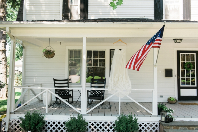 Love this front porch dress shot on the Fourth of July!