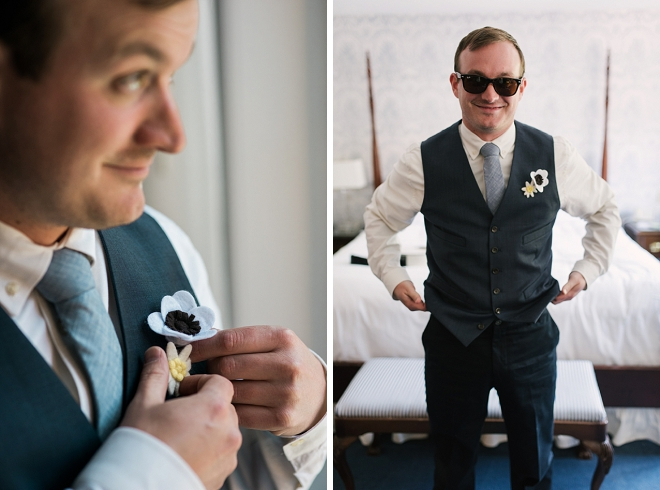 Handsome Groom getting ready for the big day!