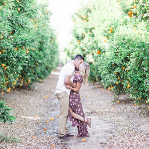 We're swooning over this uber romantic vineyard engagement!
