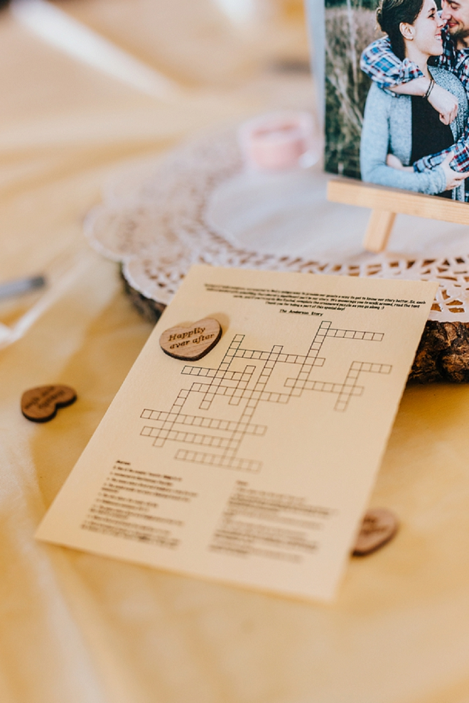 We love this fun table idea for guests!