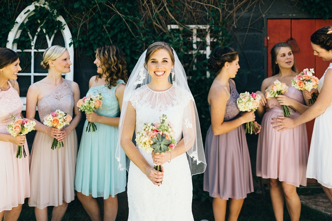 We love these fun shots of the Bride and her Bridesmaids! SO cute!