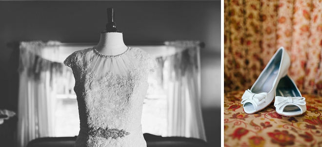 We love this Bride's dress and other darling details of her gorgeous rustic wedding!