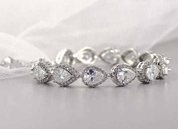 We LOVE this stunning wedding bracelet!