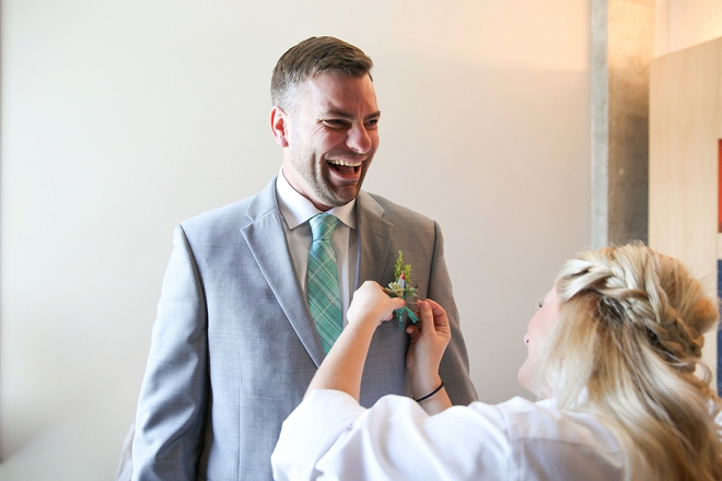 The handsome Groom getting ready for the big day!