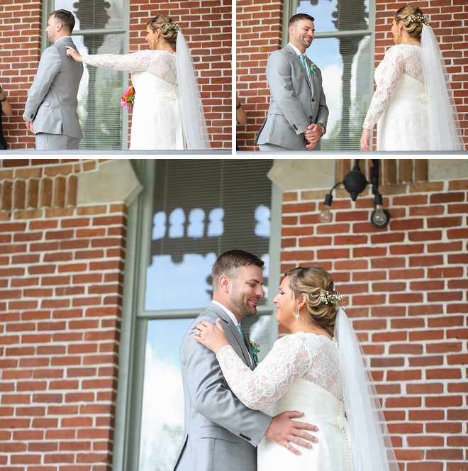 We're swooning over this darling first look of this sweet Mr. and Mrs!