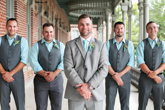 The handsome Groom and his Groomsmen getting ready for the big day!