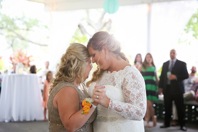Such a sweet snap of the Bride and her Mom during the parent dances!