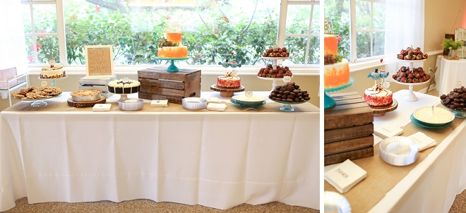Awesome dessert bar at this fun couple's wedding!