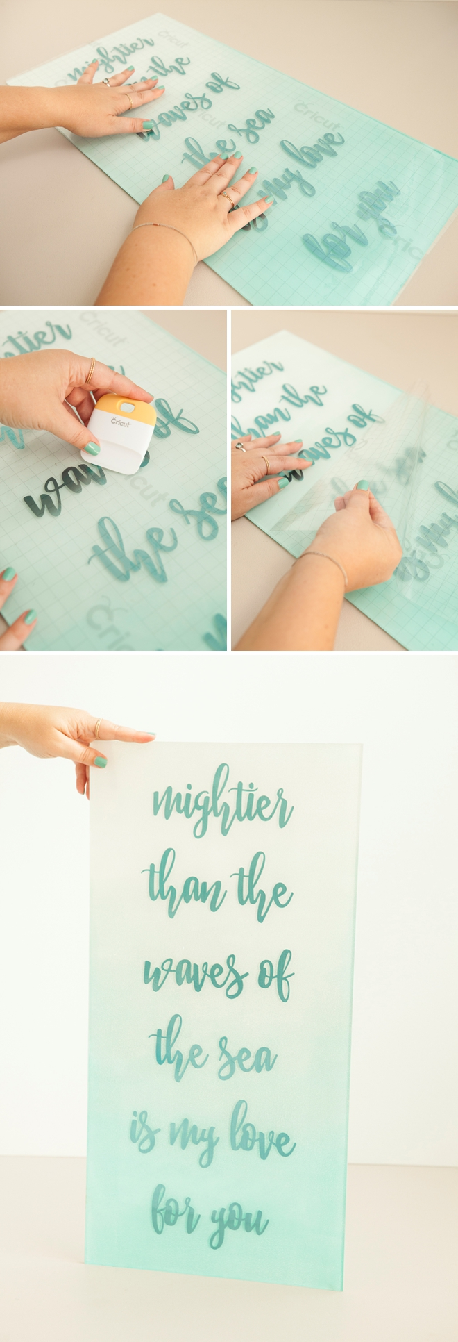 Make your own gorgeous acrylic and foil wedding sign using our FREE cut file!