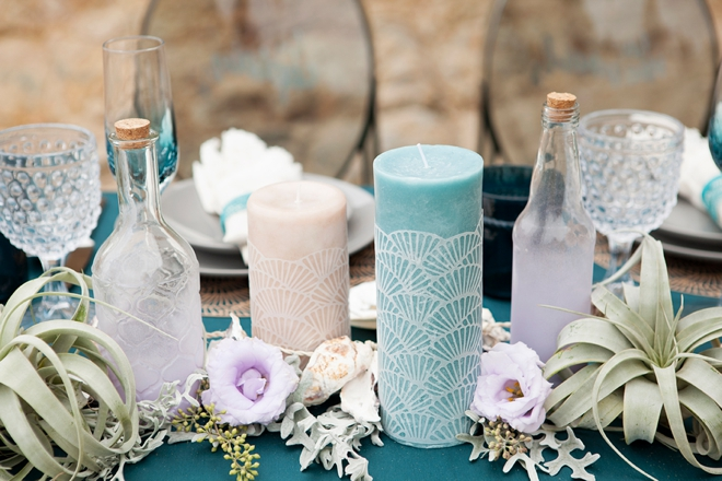 Learn how to DIY these gorgeous scalloped candle wraps!
