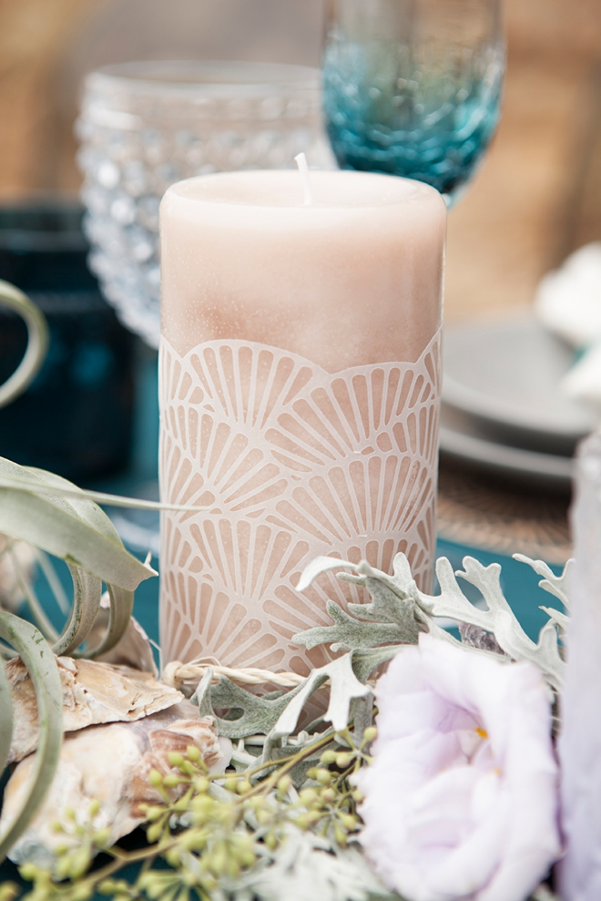 Embellish any plain candle with these DIY scalloped candle wraps!