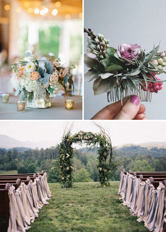 Cute simple floral wedding ideas