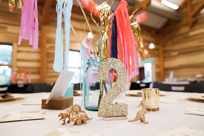 These streamers on a stick are a simple and affordable DIY centerpiece.
