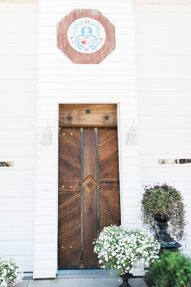 This door. Stunning at this couples reception!