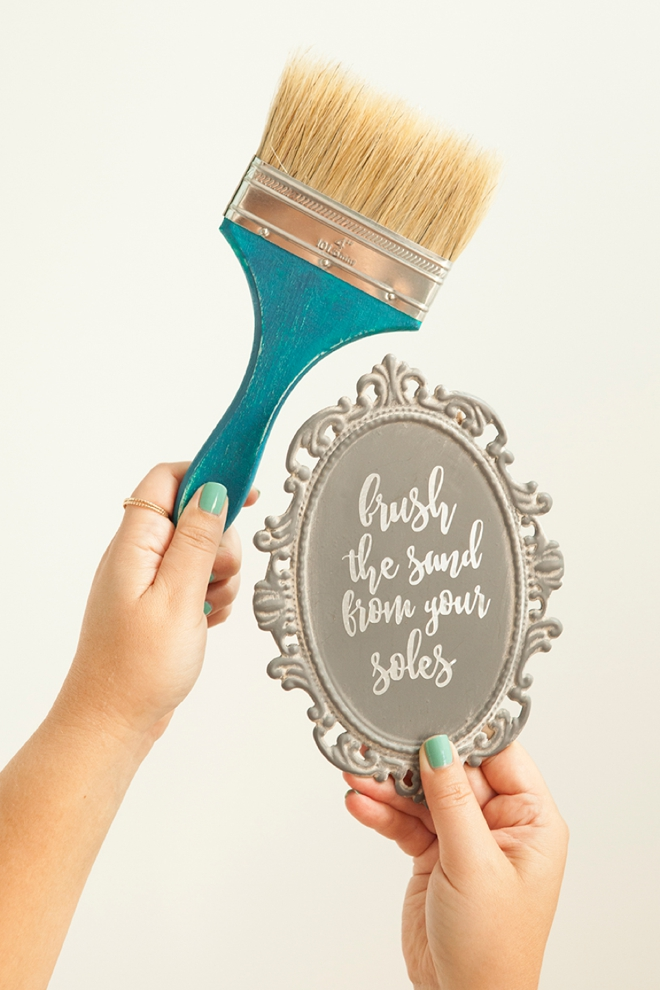 Check out this cute Brush The Sand From Your Soles beach wedding idea that you can DIY!