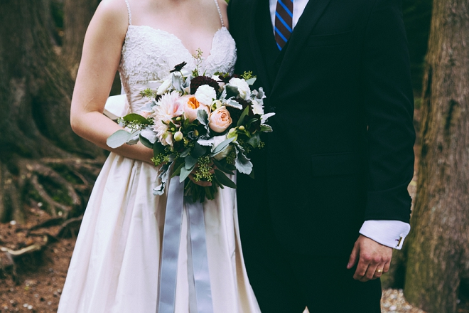 We're swooning over this gorgeous Mr. and Mrs. and their stunning backyard wedding!