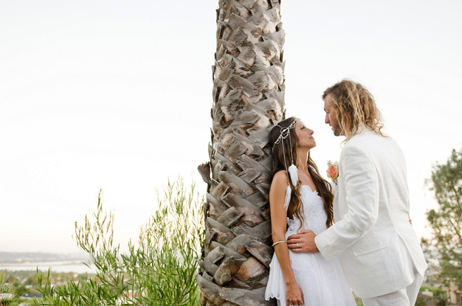 We're in love with the Mr. and Mrs. and their stunning boho beach wedding!
