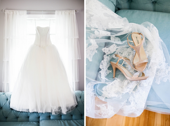 We are swooning over this stunning dress shot and the Bride's darling details! LOVE!
