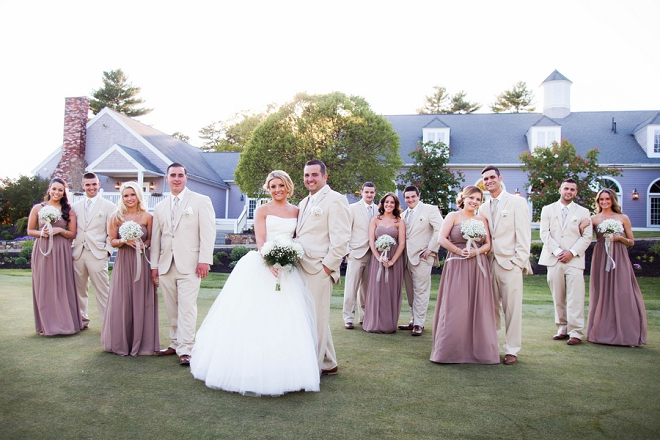We love this darling Mr. and Mrs. and their gorgeous bridal party!