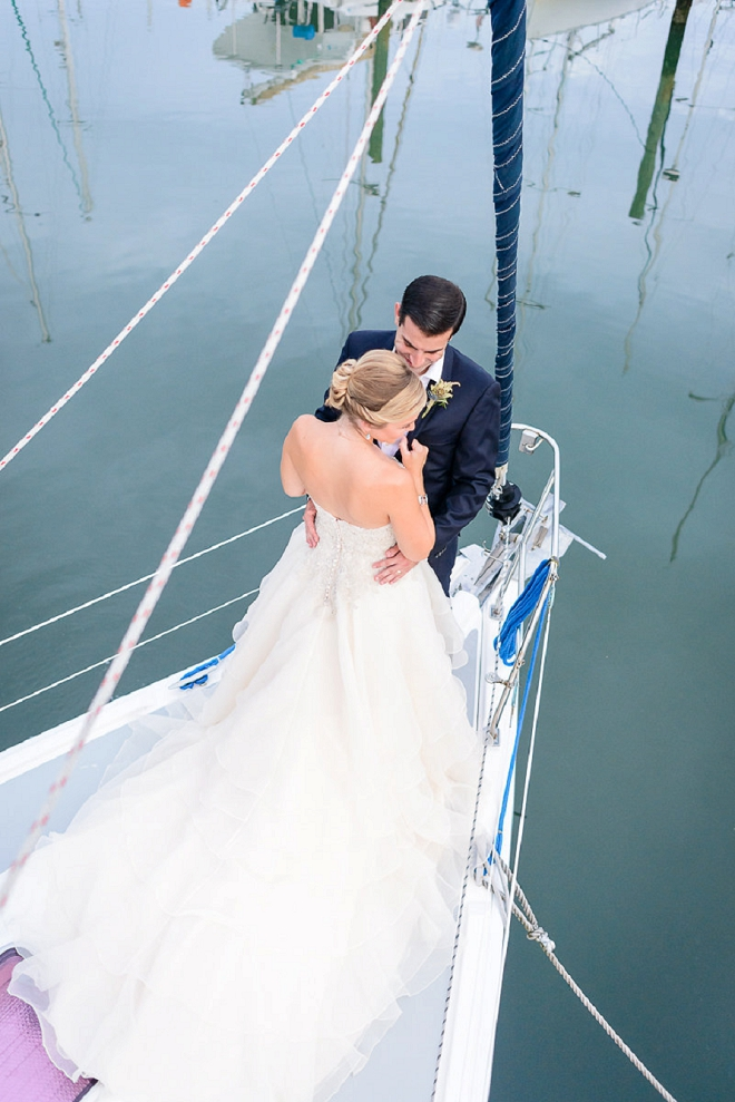 Crushing on this couple and their nautical styled coastal wedding!