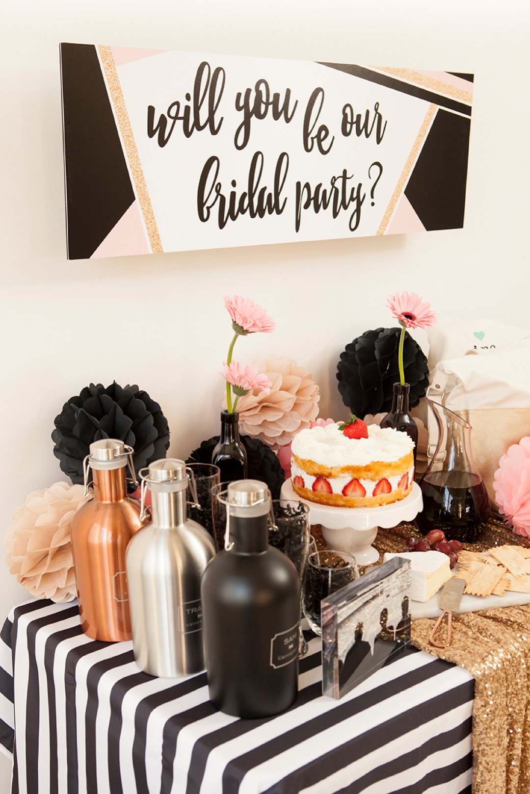 Adorable Will You Be Our Bridal Party, party idea!