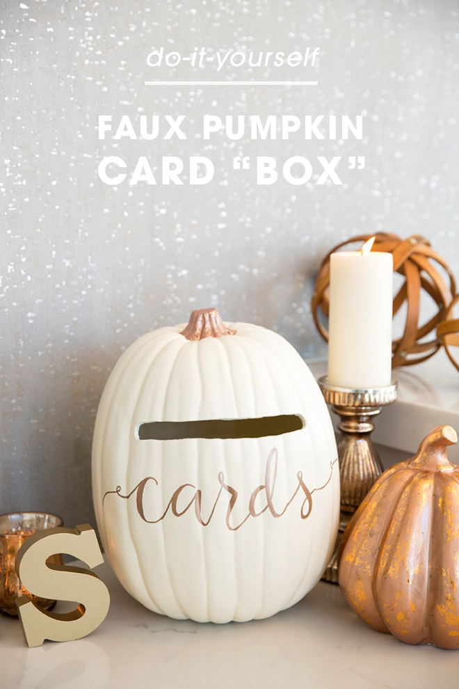 Learn how to turn a foam pumpkin into the most perfect fall wedding card box!
