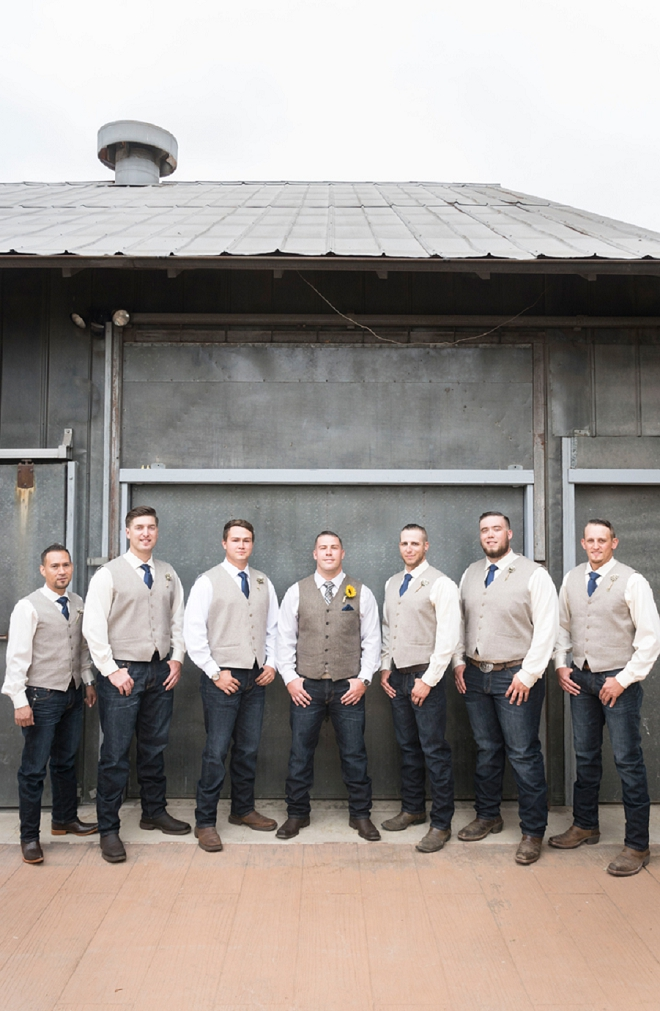 Great photo of the Groom and his Groomsmen before the ceremony!