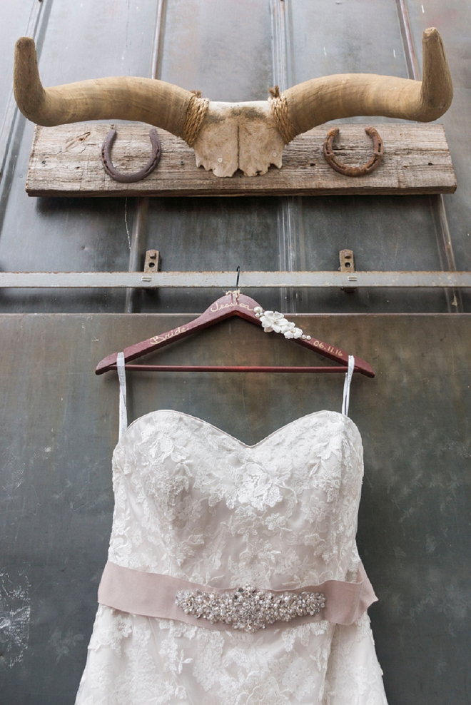 We love this dress shot with rustic touches! So cute!