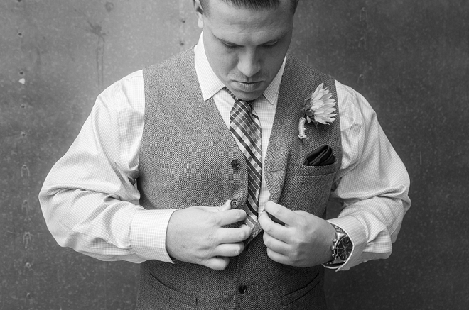 The handsome Groom getting ready for his Bride!
