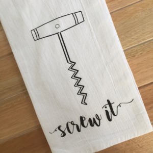We're loving this super cute wine tea towel!