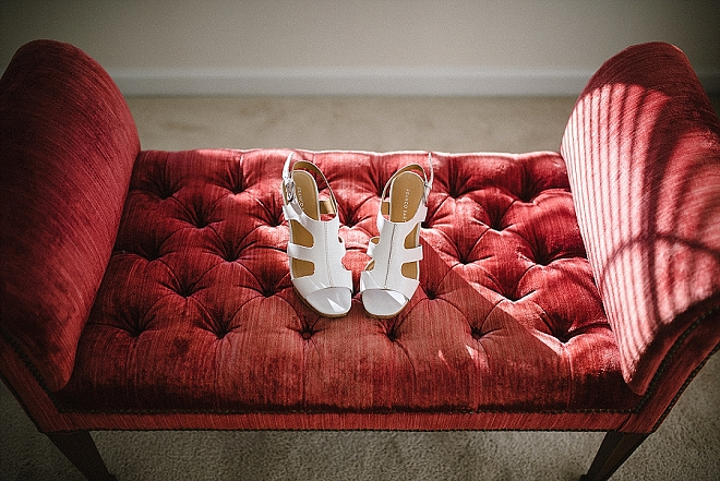 We love this shot of this darling Bride's wedding shoes!