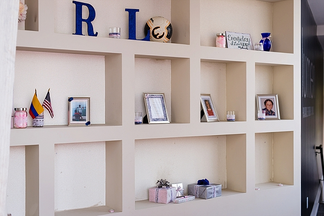 We love this personalized little reception nook!