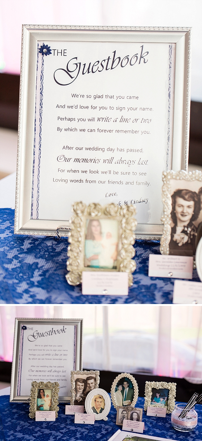 We love this engagement photo guest book!