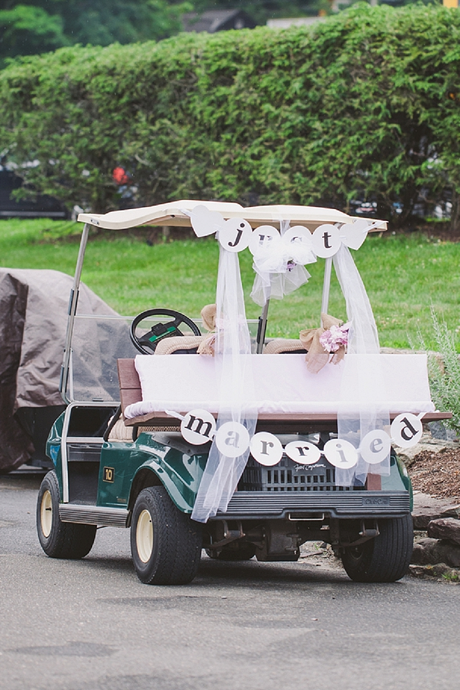 What's better than a Just Married golf cart?! Nothing!!