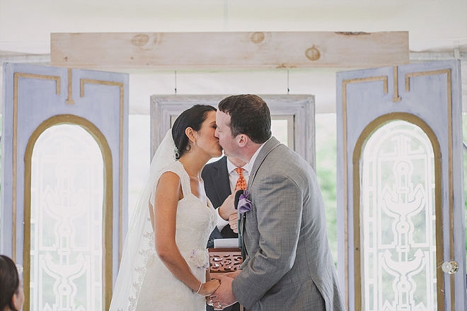 The first kiss as Mr. and Mrs!