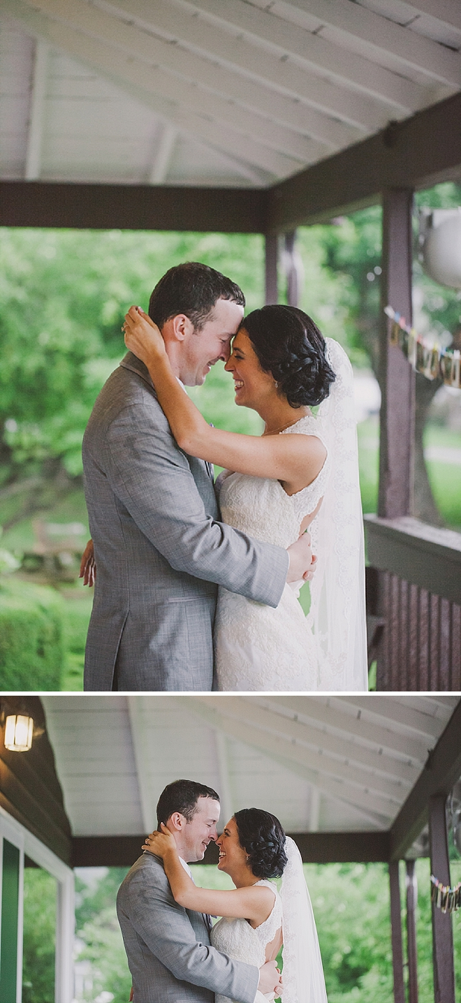 We're in love with this Mr. and Mrs. and their stunning lakeside wedding!