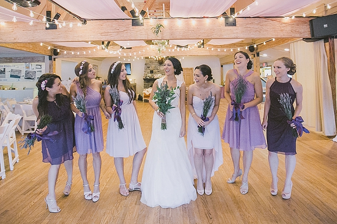 Great snap of the Bride and her Bridesmaids before the ceremony!