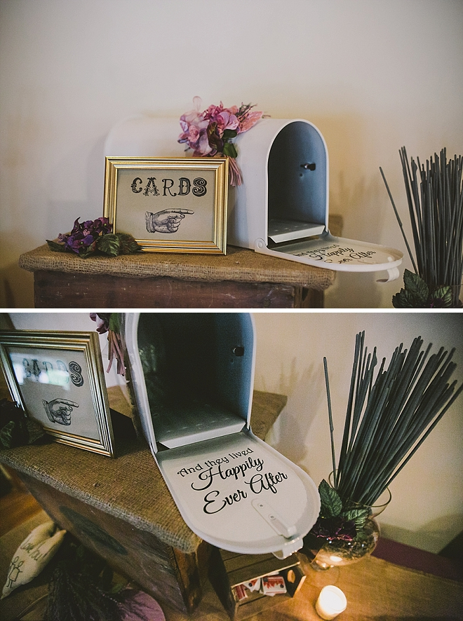 How cute is this Happily Ever After DIY'd card holder mailbox?! We're in LOVE!