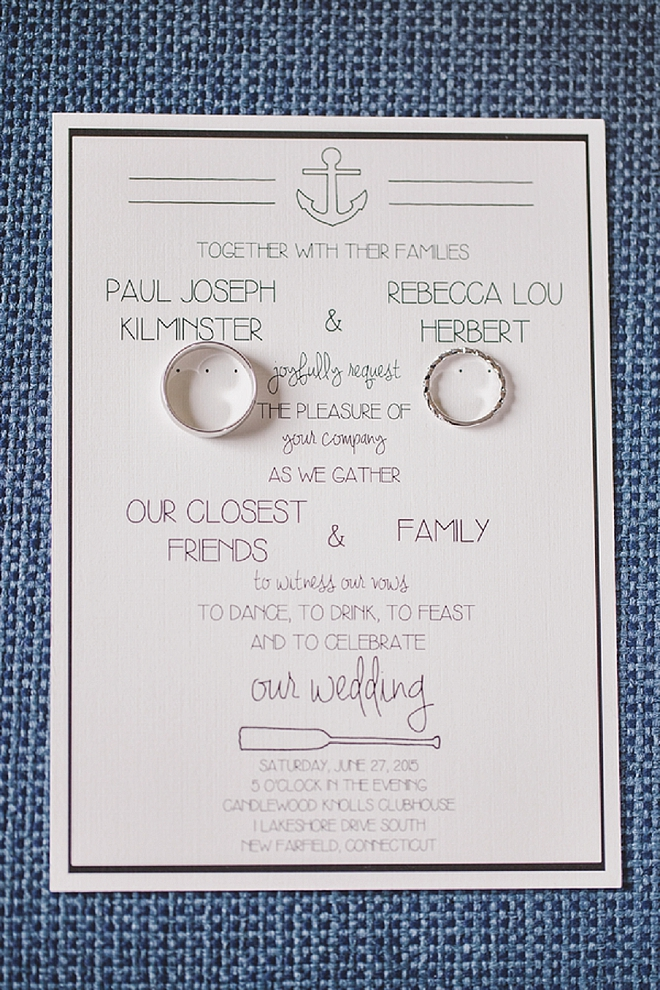We love this invitation and ring shot snap in one! Stunning!