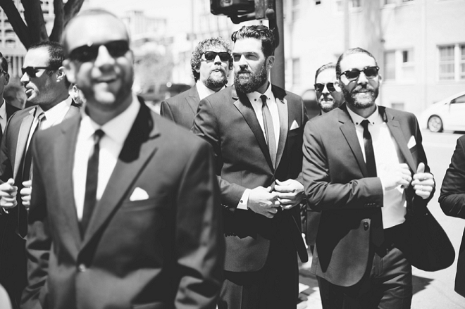 Great shot of the Groom and Groomsmen before the ceremony!