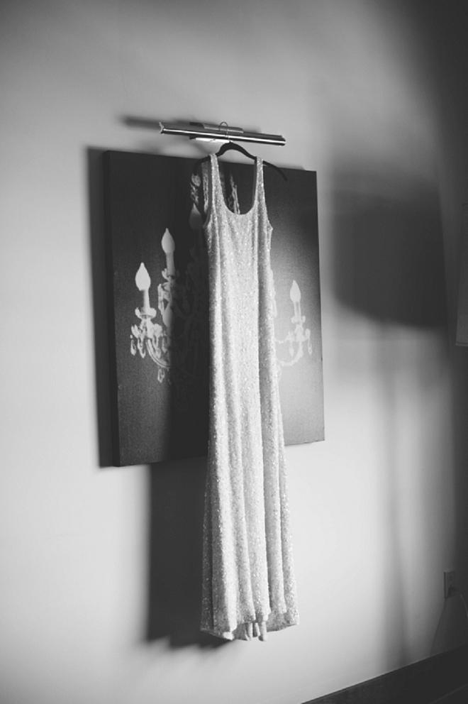 We love this bride's moody dress shot!