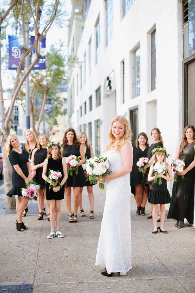 We love this Bride and her gorgeous wedding party!