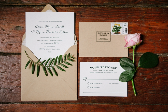 We're crushing on this darling invitation suite!