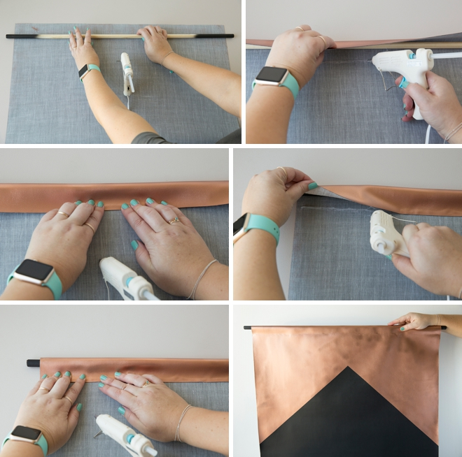 How to make a giant chalkboard sign using blackboard fabric!