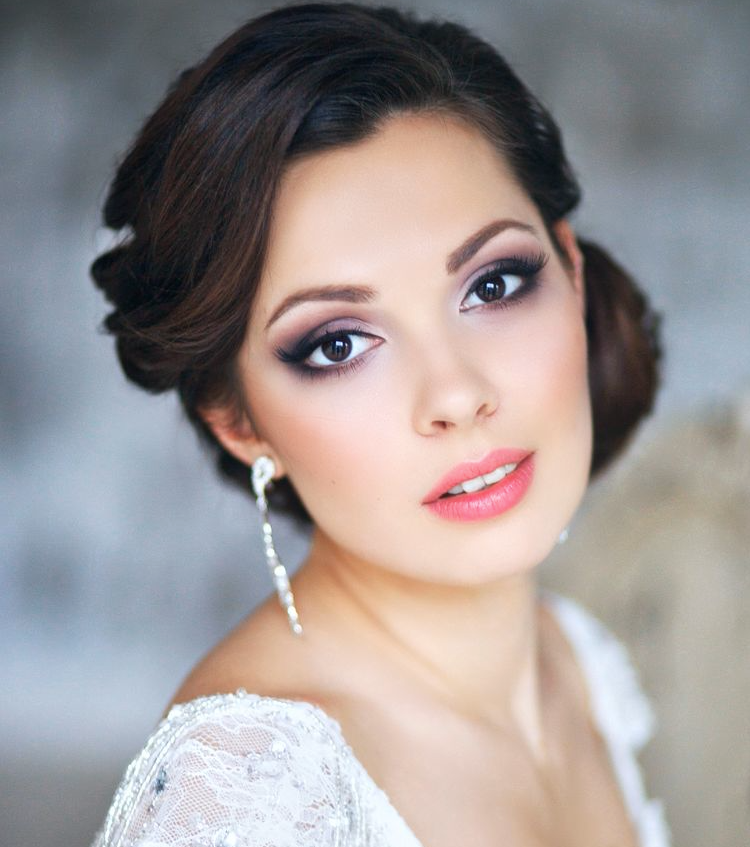 Bridal eye makeup vibes.