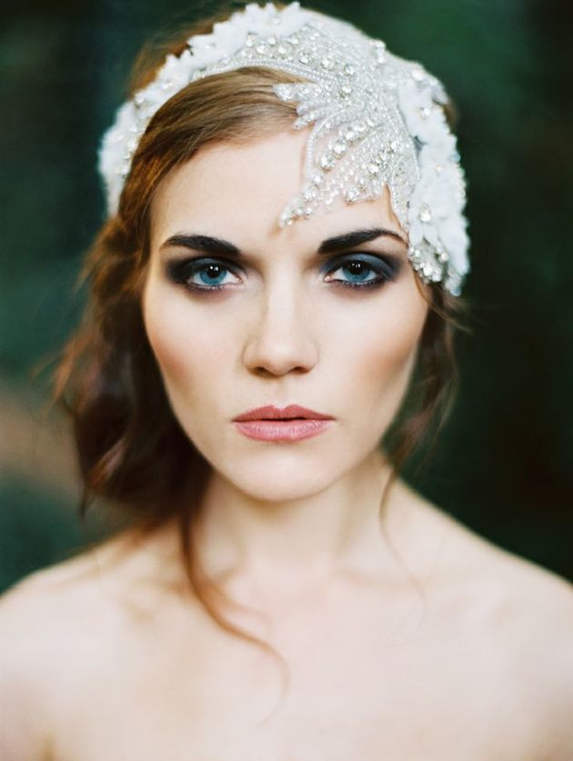 Coloured eyeshadow for your wedding day.