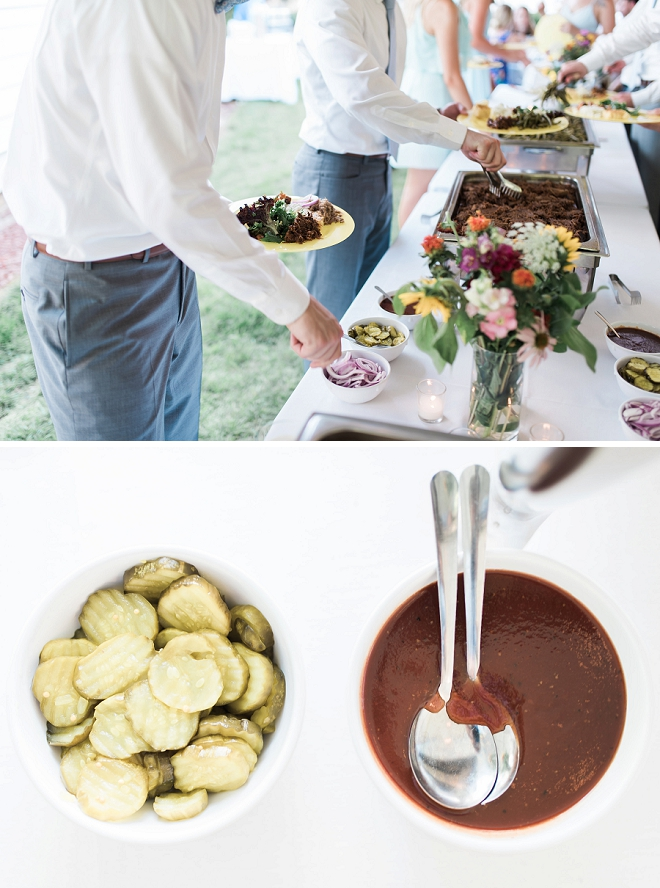 How great is this North Carolina backyard BBQ wedding?! We love it!