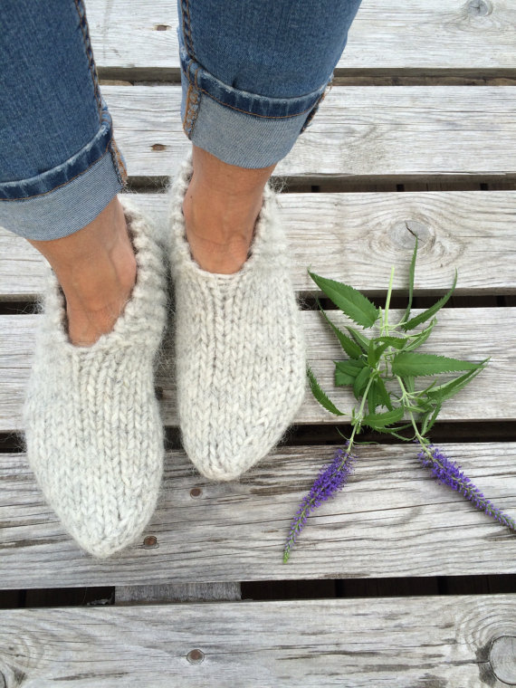 How darling are these warm wool Iceland sock slippers?! LOVE!